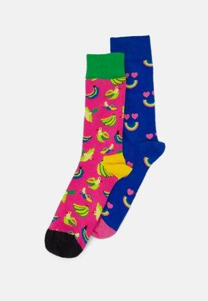 HAPPY RAINBOW BANANA BIRD - Ponožky - multi