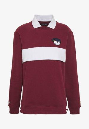 MALBON L&S COLLAR - Sweatshirt - claret jug