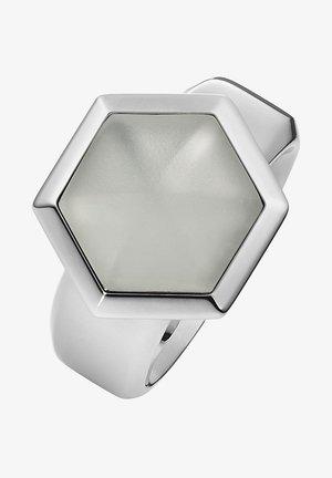 MIT BERGKRISTALL MATT - Ring - silber