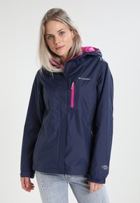 Columbia - POURING ADVENTURE JACKET - Hardshell jacket - dark blue - 0