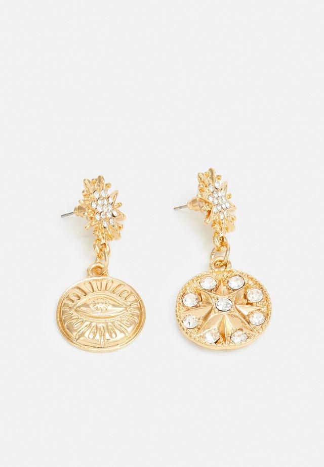 STATEMENT DROP EARRINGS - Korvakorut - gold-coloured