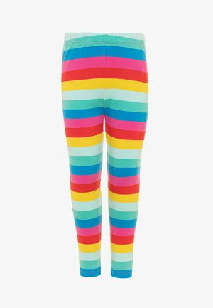 ORGANIC COTTON LIBBY RAINBOW STRIPE - Leggings - Trousers - flamingo/multicolor