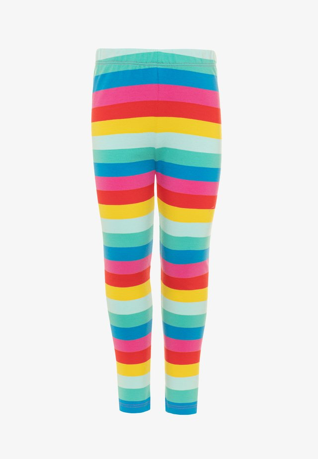 ORGANIC COTTON LIBBY RAINBOW STRIPE - Leggings - flamingo/multicolor