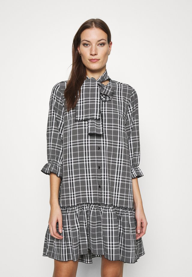 TUNDRA DRESS - Shirt dress - black