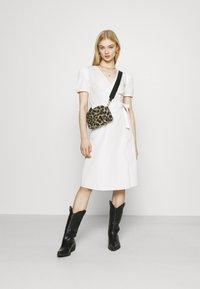 Vila - VISILLE WRAP MIDI DRESS - Day dress - snow white - 1