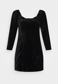 Who What Wear - SQUARE NECK MINI DRESS - Shift dress - black - 3