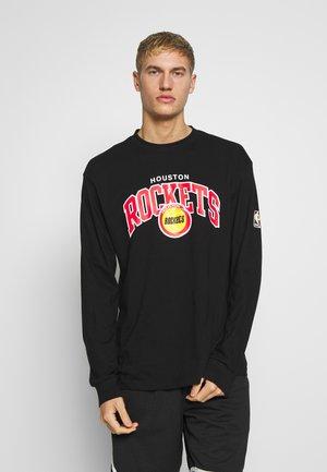 NBA HOUSTON ROCKETS ARCH LOGO LONG SLEEVE - Klubové oblečení - black