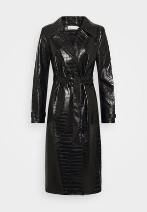 CROCO COAT - Trenchcoat - black