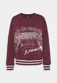 CLUB DE RAQUETTE GRAPHIC OVERSIZED - Sweater - burgundy