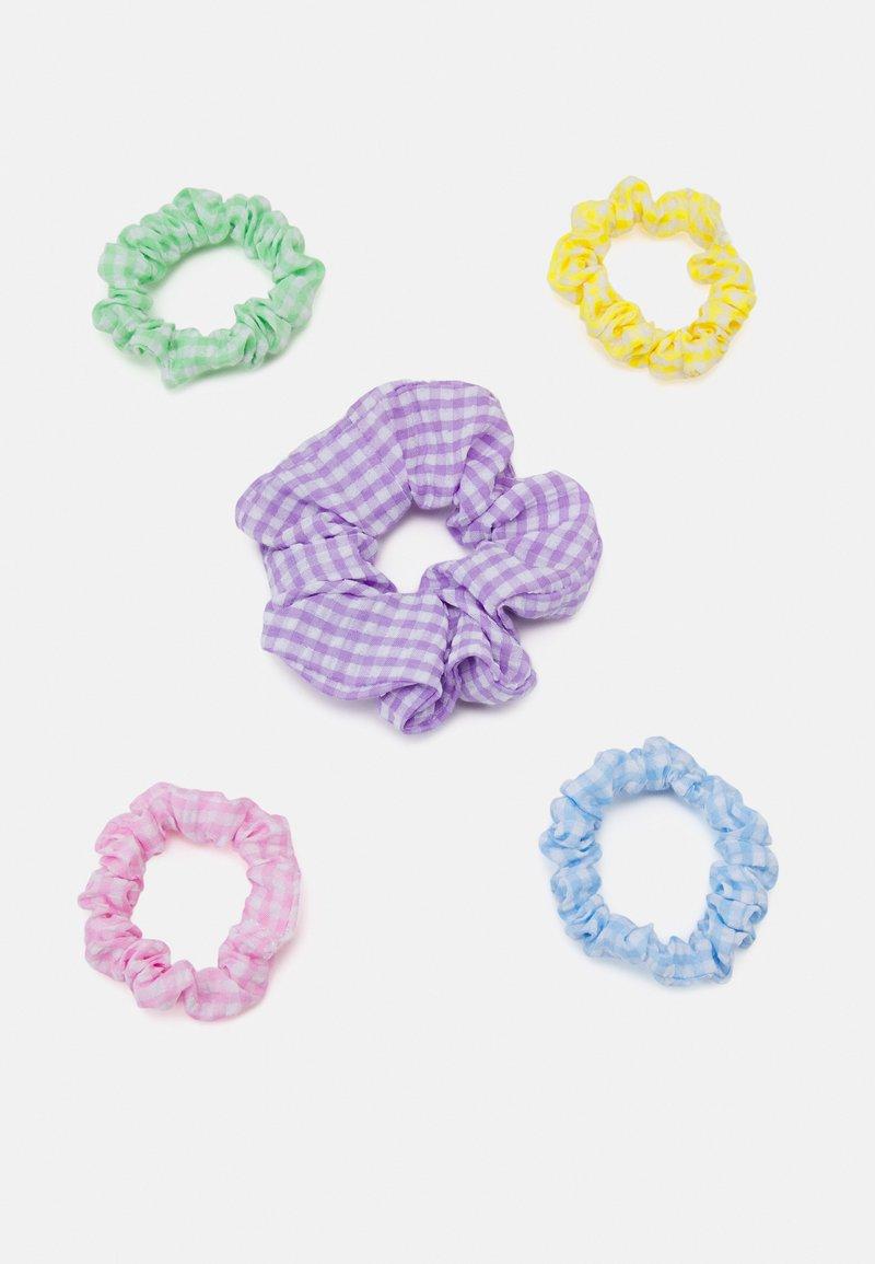 Fire & Glory - UTTI SCRUNCHIE ZAL 5 PACK - Hair styling accessory - purple heather/multi