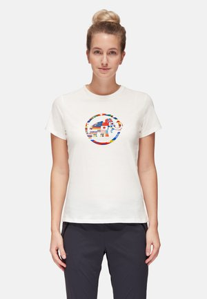 NATIONS - T-shirt con stampa - bright white