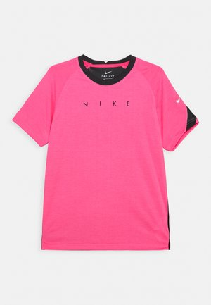 DRY ACADEMY - T-shirt con stampa - hyper pink heather/black/white