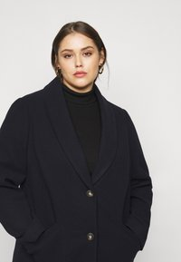Dorothy Perkins Curve - MINIMAL SHAWL COLLARCROMBIE COAT - Short coat - navy - 3