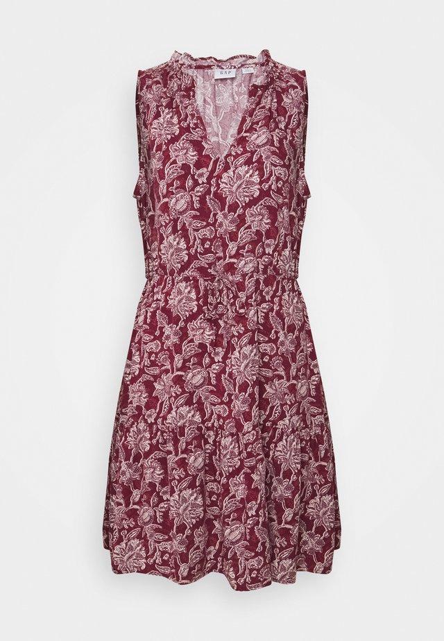 ZEN EWAIST DRESS - Day dress - burgundy