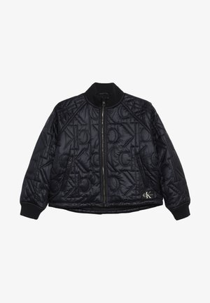 MONOGRAM JACKET - Giubbotto Bomber - black