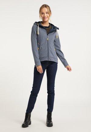 Zip-up hoodie - marine melange
