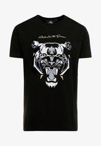 DEMON - Camiseta estampada - black