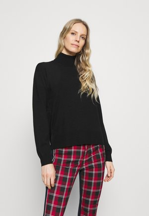 ROLL NECK- LOOSE FIT - Jumper - black