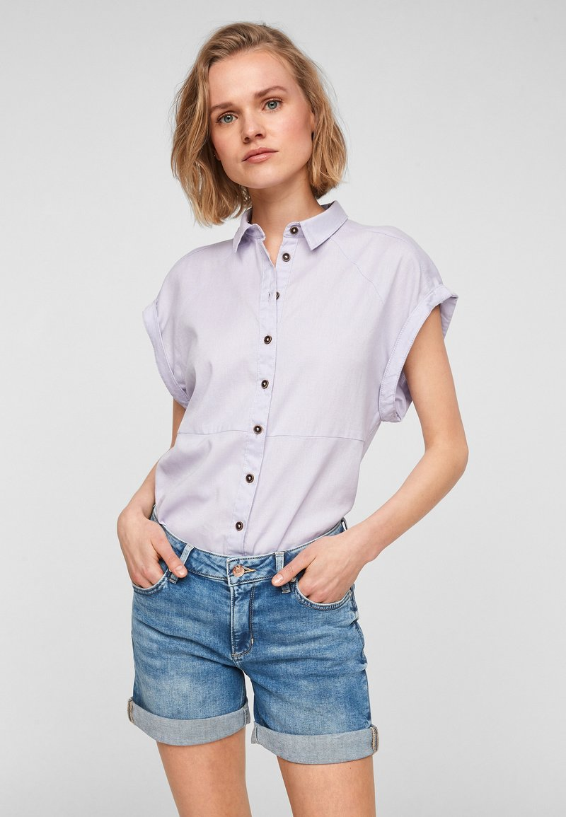 Q/S designed by - Denim shorts - medium blue