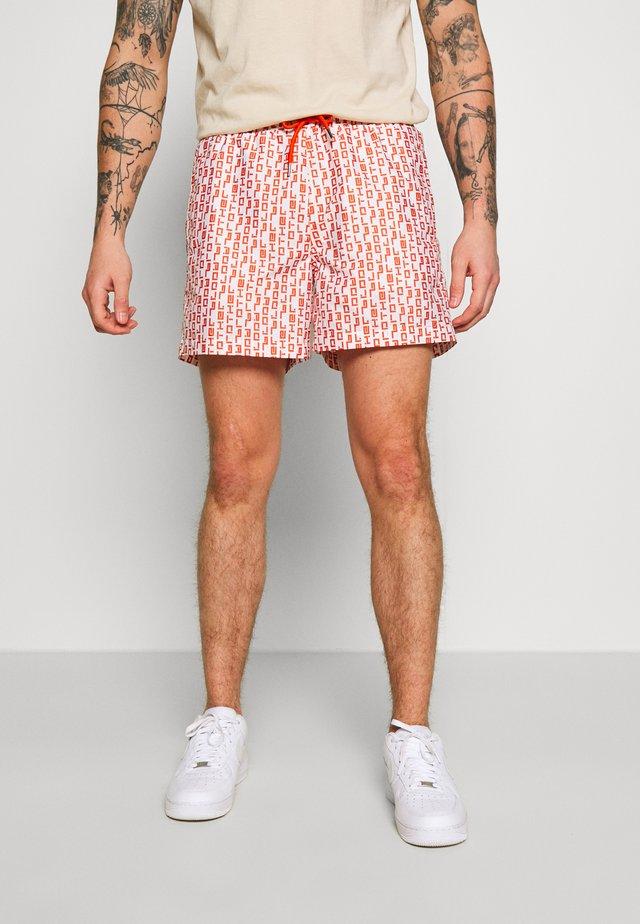Pantaloni sportivi - white/orange
