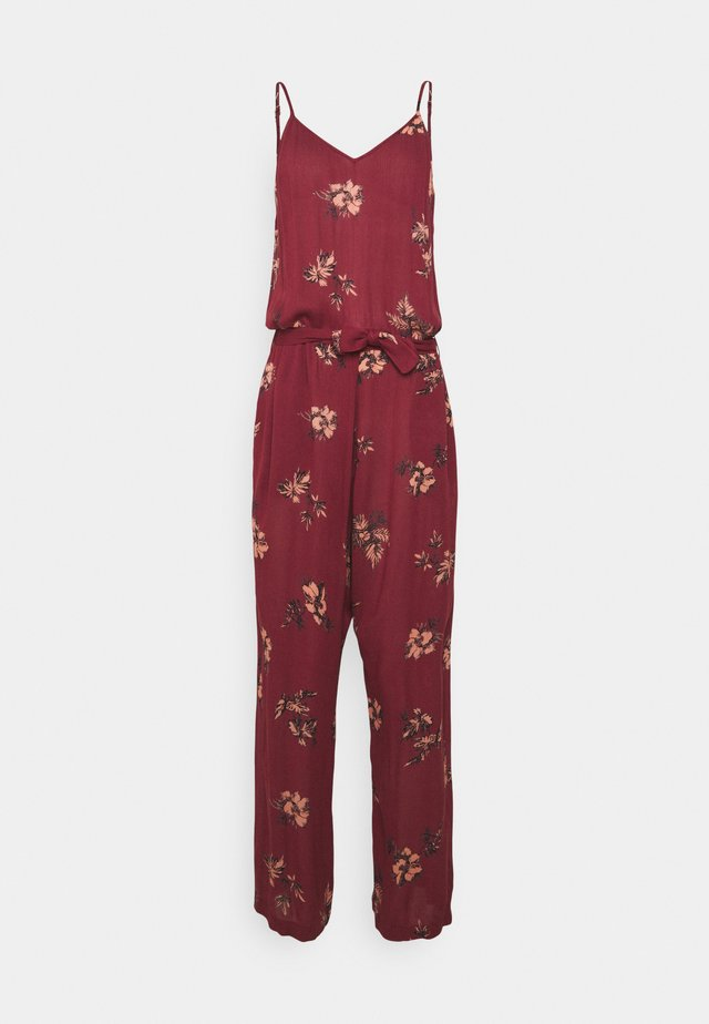 MOKI WOMENS JUMPSUIT - Pyžamo - auburn red