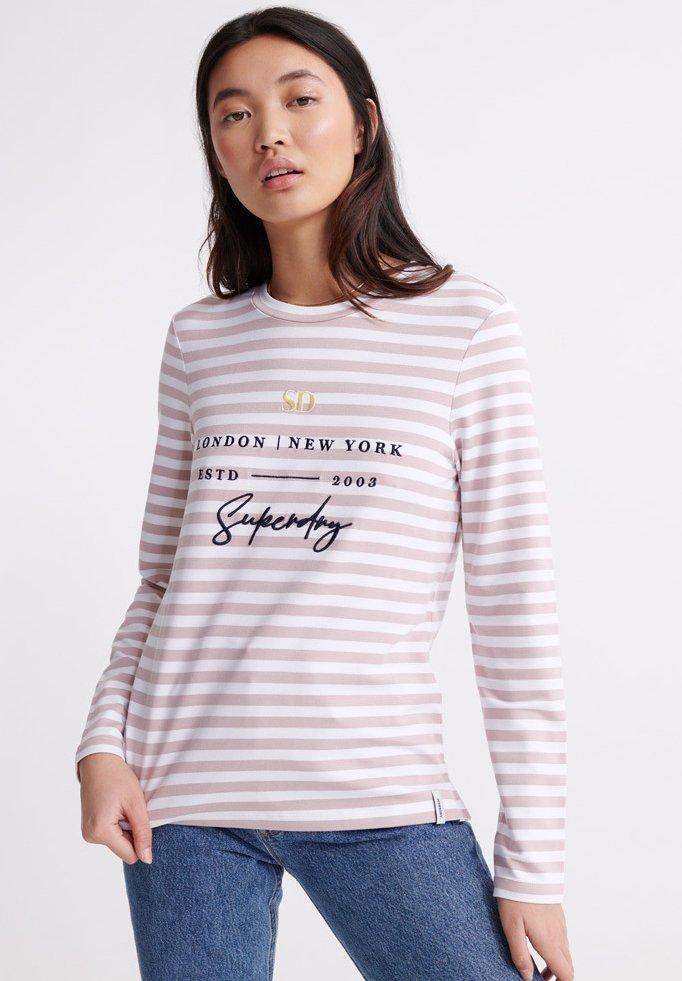Women SUMMER APPLIQUE  - Long sleeved top - pink