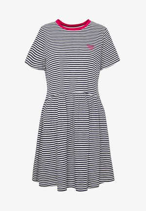 STRIPE TEE DRESS - Robe en jersey - twilight navy white