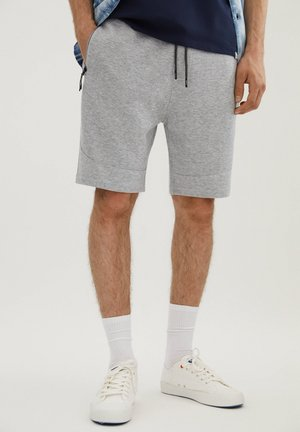MIT REISSVERSCHLÜSSEN - Shorts - grey