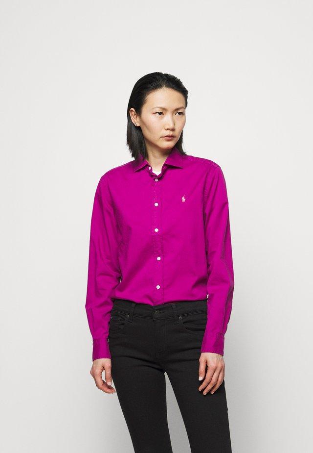 Button-down blouse - bright magenta