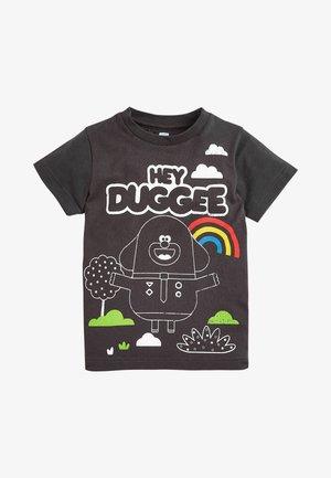 HEY DUGGEE PRINTED JERSEY T-SHIRT - Print T-shirt - black