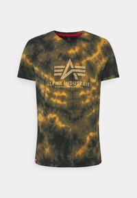 Alpha Industries - BASIC BATIK - Print T-shirt - brown - 0