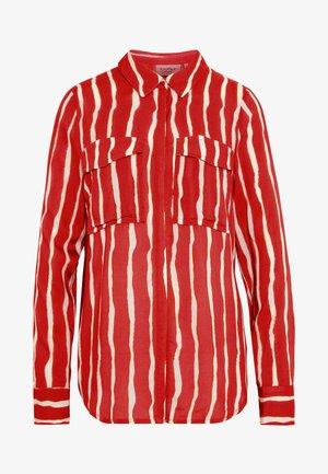 AURETTE STRIPE - Button-down blouse - burned orange