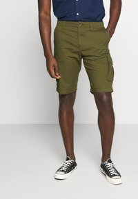 Selected Homme - SLHJIMMI CARGO - Shorts - dark olive - 0