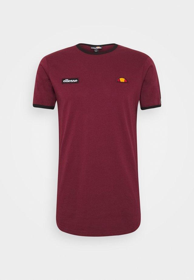 FEDORA - T-Shirt print - burgundy