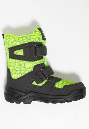 KALYPSO SYMPATEX - Winter boots - black/neon yellow