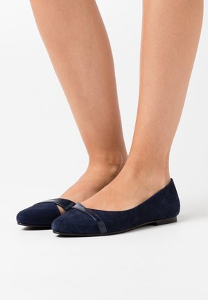 LEATHER  - Ballet pumps - dark blue