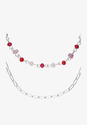 MIT GLASPERLEN - Necklace - silberfarben