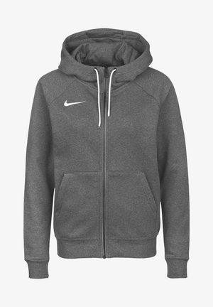 PARK - Sweat à capuche zippé - charcoal heather  white