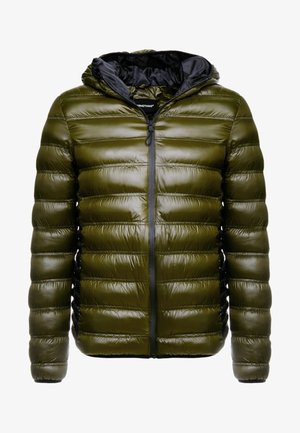 WET LOOK PUFFER JACKET - Jas - olive