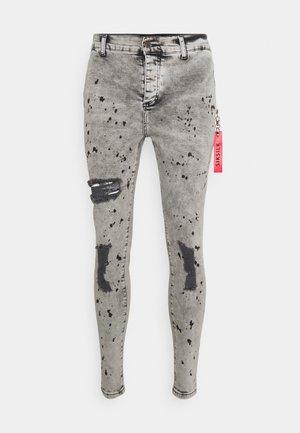DISTRESSED RIOT FLIGHT - Jeans Skinny - snow wash