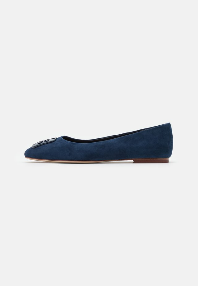 SQUARE TOE - Ballerina's - perfect navy