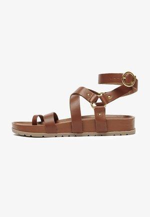 OHANZEE  - T-bar sandals - tan