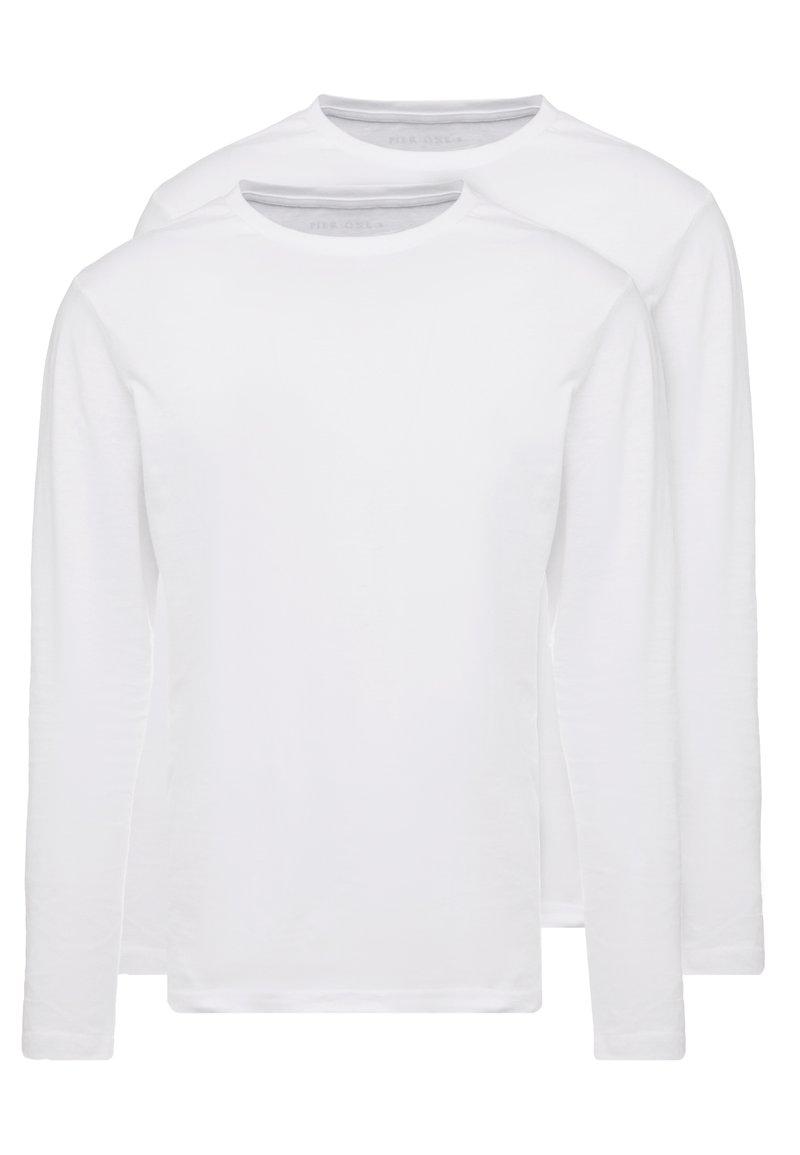 Pier One - 2 PACK - Camiseta de manga larga - white