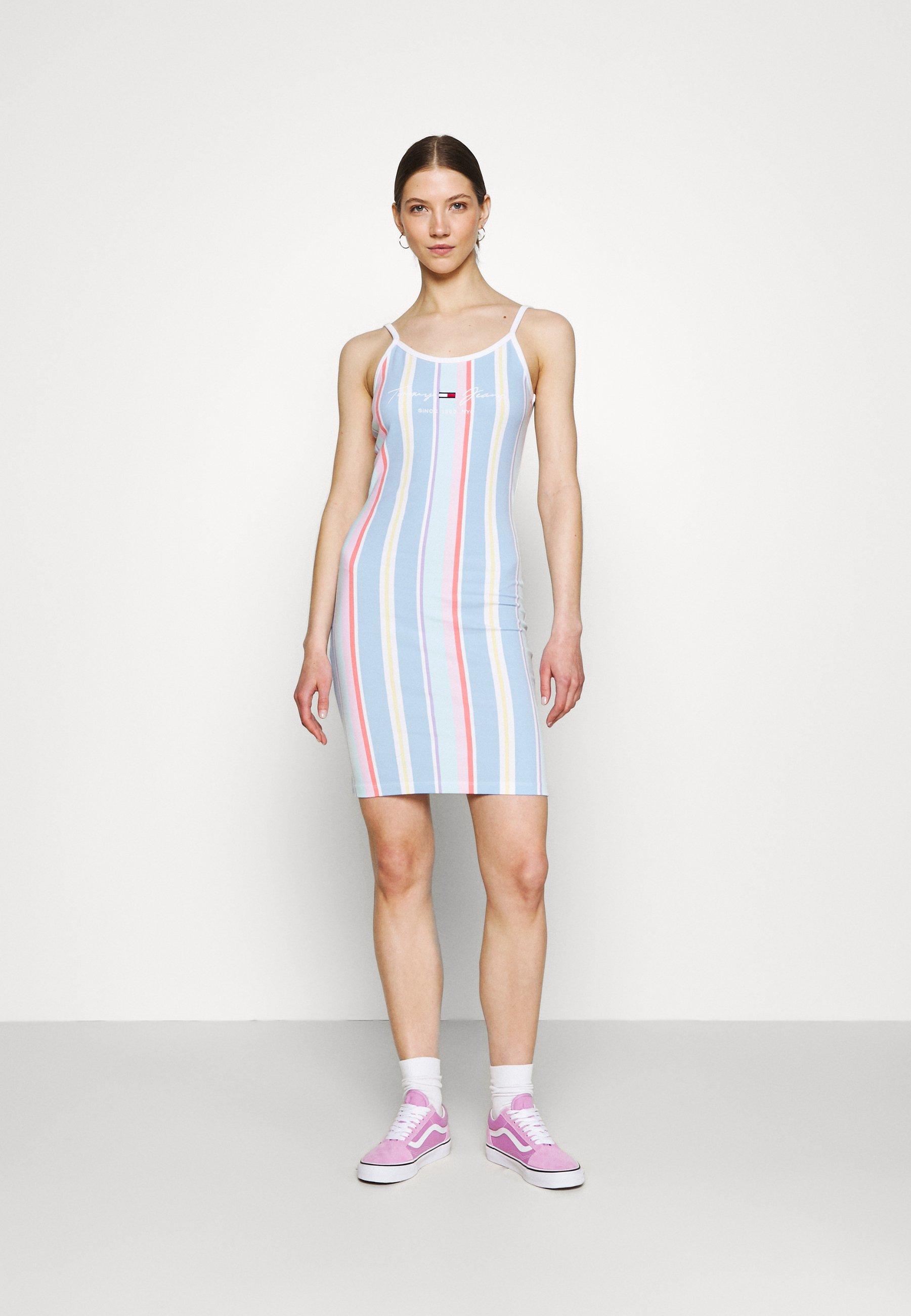Women STRIPE STRAP DRESS - Jersey dress