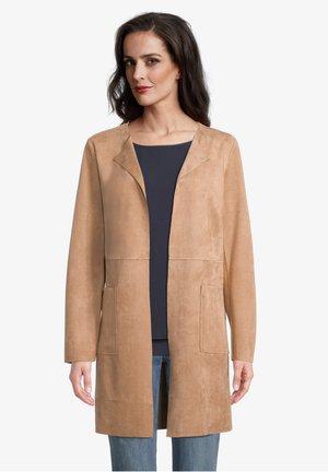OHNE VERSCHLUSS - Short coat - beige