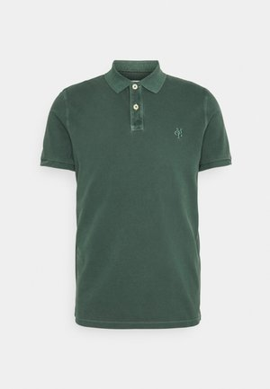 SHORT SLEEVE BUTTON PLACKET - Polo shirt - mystic green