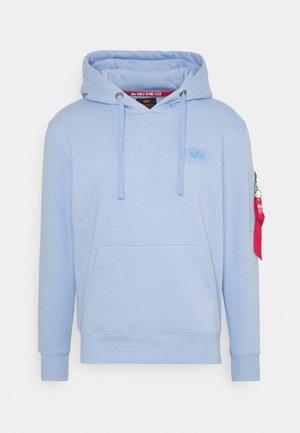 PRINT HOODY - Bluza z kapturem - light blue