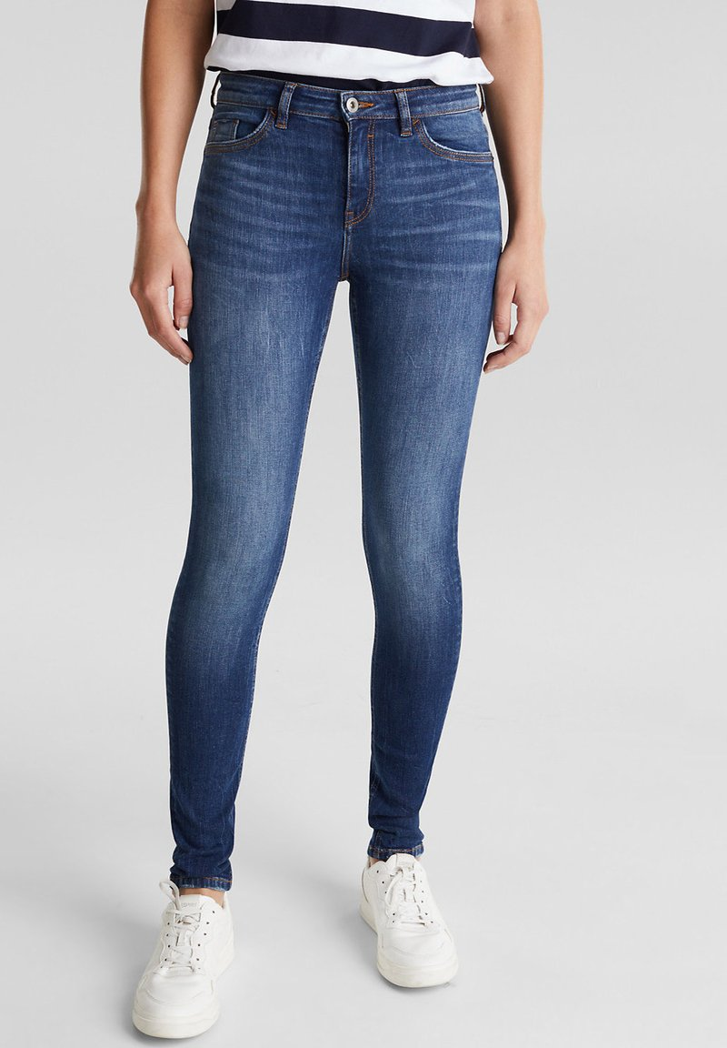 edc by Esprit - MIT ORGANIC COTTON - Jeans Skinny Fit - blue dark washed