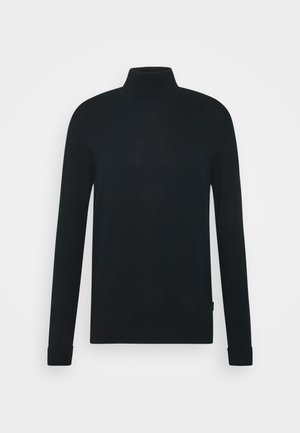 SIGNATURE ROLL NECK - Jumper - black