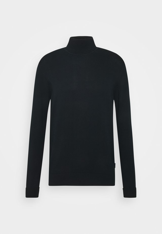 SIGNATURE ROLL NECK - Stickad tröja - black